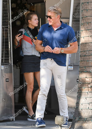 Dolph Lundgren and his daughter, Ida