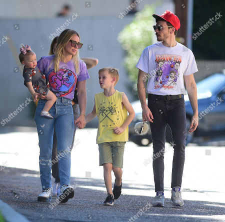 Hilary Duff, Matthew Koma, Luca Cruz Comrie and Banks Violet Bair