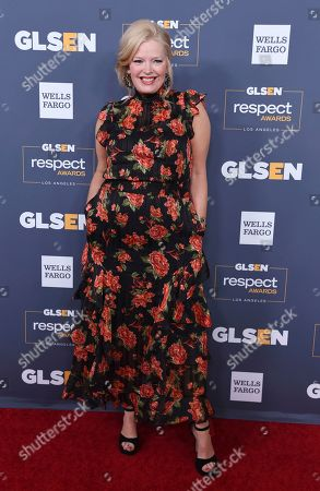 Melissa Peterman poses at the 2019 GLSEN Respect Awards at the Beverly Wilshire Hotel, in Beverly Hills, Calif