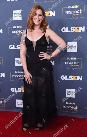 Our Lady J poses at the 2019 GLSEN Respect Awards at the Beverly Wilshire Hotel, in Beverly Hills, Calif