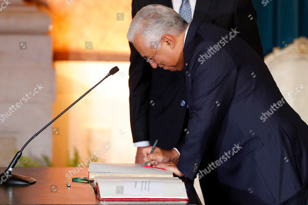 Antonio Costa is sworn as Portugal's Prime Minister in a ceremony at Lisbon's Ajuda Palace . Portugal's center-left Socialist Party has been sworn in for a second consecutive four-year term in government. Antonio Costa remains as prime minister, while Mario Centeno continues as finance minister and Augusto Santos Silva as foreign minister