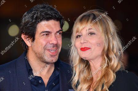 Pierfrancesco Favino (L) with his wife Anna Ferzetti attend the 14th annual Rome Film Festival, in Rome, Italy, 26 October 2019. The film festival runs from 17 to 27 October.