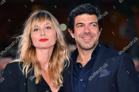 Pierfrancesco Favino (R) with his wife Anna Ferzetti attend the 14th annual Rome Film Festival, in Rome, Italy, 26 October 2019. The film festival runs from 17 to 27 October.