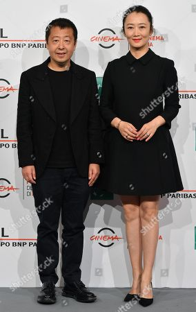 Zhao Tao (R) and Chinese director Jia Zhangke (L) pose during a photocall at the 14th annual Rome Film Festival, in Rome, Italy, 26 October 2019. The film festival runs from 17 to 27 October.