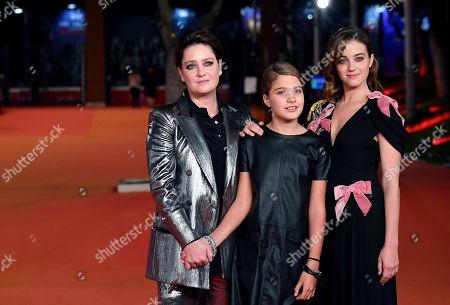 Italian actresses Beatrice Granno' (R), Giovanna Mezzogiorno (L) and Clelia Rossi Marcelli (C) arrive for the screening of 'Tornare' at the 14th annual Rome Film Festival, in Rome, Italy, 26 October 2019. The film festival runs from 17 to 27 October.