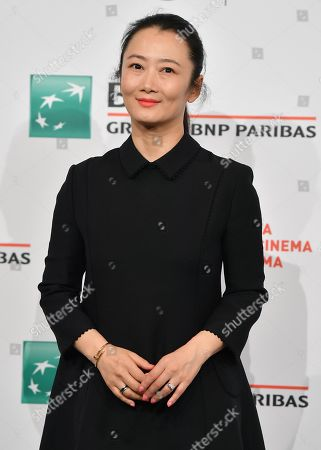 Zhao Tao poses during a photocall at the 14th annual Rome Film Festival, in Rome, Italy, 26 October 2019. The film festival runs from 17 to 27 October.