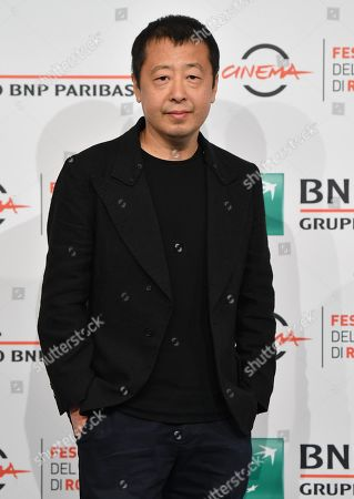 Jia Zhangke poses during a photocall at the 14th annual Rome Film Festival, in Rome, Italy, 26 October 2019. The film festival runs from 17 to 27 October.