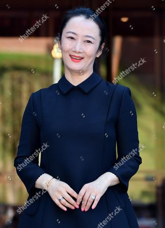 Stock Photo of Zhao Tao poses for the media upon her arrival for an event within the 14th annual Rome Film Festival, in Rome, Italy, 26 October 2019. The film festival runs from 17 to 27 October.
