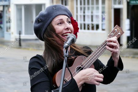 Sam Brown plays with her International Ukulele Club of Sonning Common