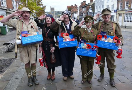 Sam Brown with The Royal British Legion Poppy sellers