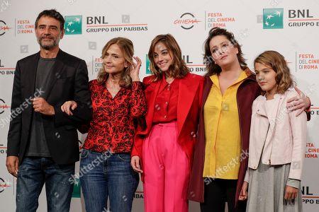 "From left, actor Vincenzo Amato, director Cristina Comencini, and actresses Beatrice Granno, Clelia Rossi Marcelli and Giovanna Mezzogiorno pose during a photo call for the movie ""Tornare"", at the Rome Film Fest, in Rome"