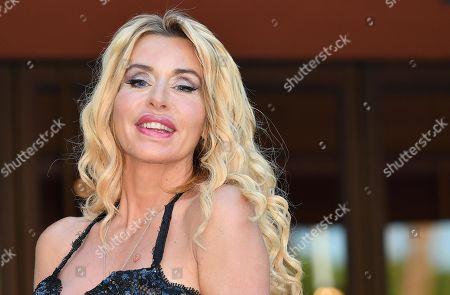 Valeria Marini arrives for the screening of 'Cecchi Gori-Una famiglia Italiana' at the 14th annual Rome Film Festival, in Rome, Italy, 26 October 2019. The film festival runs from 17 to 27 October.