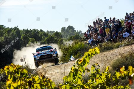 Stock Image of Jari- Matti Latvala of Finland drives his Toyota Yaris WRC during day 1 of Rally Spain in Salou, Spain, 25 October 2019.