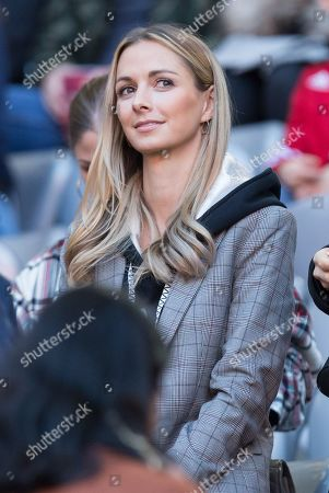 Stock Photo of Lisa, wife of  Sven Ulreich #26 (FC Bayern Muenchen), FC Bayern Muenchen vs. 1. FC Union Berlin, Football, 1.Bundesliga, 26.10.2019, DFB regulations prohibit any use of photographs as image sequences and/or quasi-video