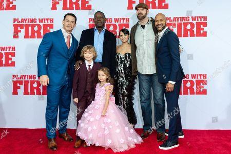 Stock Image of John Cena, Dennis Haysbert, Christian Convery, Finley Rose Slater, Brianna Hildebrand, Tyler Mane and Keegan-Michael Key