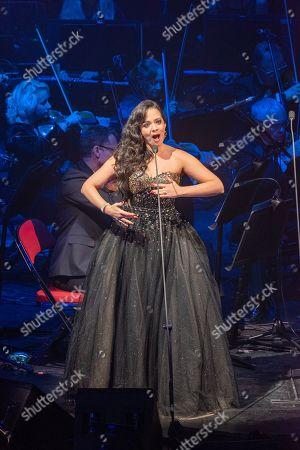 Editorial photo of Maria Aleida in concert, Leeds, UK - 26 Oct 2019