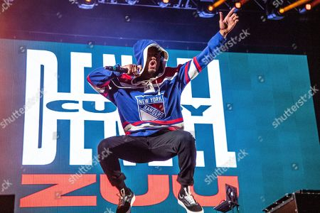 Denzel Curry performs at the Voodoo Music Experience in City Park, in New Orleans