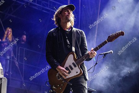 Aaron Dessner of The National performs at the Voodoo Music Experience in City Park, in New Orleans