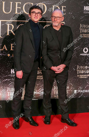 Isaac Hempstead Wright and Liam Cunningham