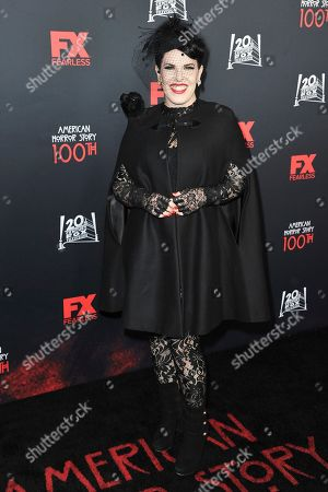 """Alexis Martin Woodall attends the 100 Episodes of """"American Horror Story"""" Celebration at Hollywood Forever Cemetery, in Los Angeles"""