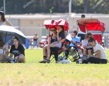 Jennifer Garner with children Samuel and Seraphina Affleck