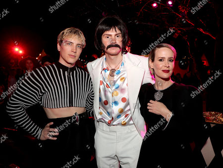 Cody Fern and Evan Peters and Sarah Paulson