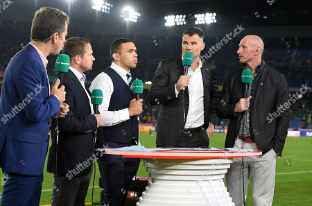 ITV commentary line up of Shane Williams, Bryan Habana, Mike Phillips and Gareth Thomas.