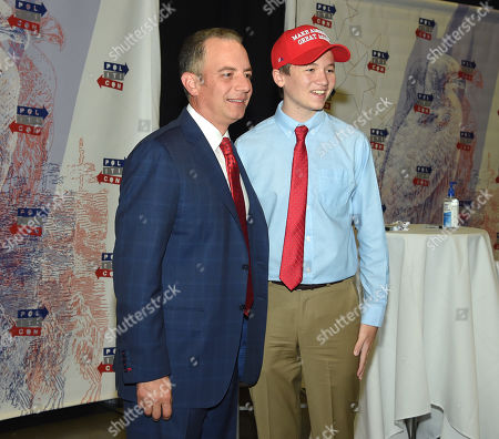 Stock Photo of Reince Priebus and Brilyn Hollyhand