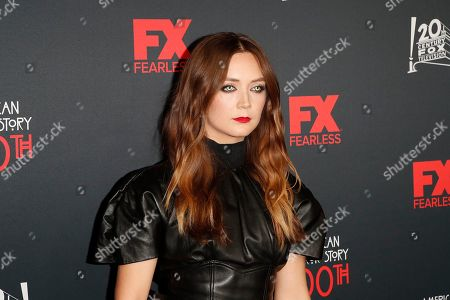 Billie Lourd arrives for FX's American Horror Story 100th Episode Celebration at Hollywood Forever Cemetery in Hollywood, Los Angeles, California, USA, 26 October 2019. American Horror Story: 1984, the ninth installment of the award-winning anthology series, currently airs on FX in the US.