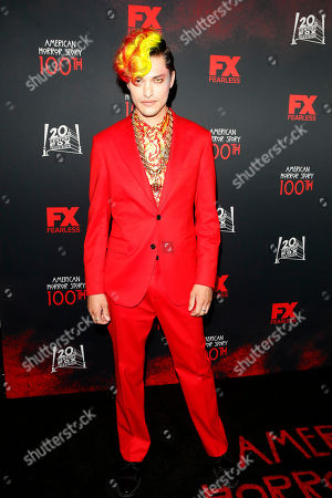 Zach Villa arrives for FX's American Horror Story 100th Episode Celebration at Hollywood Forever Cemetery in Hollywood, Los Angeles, California, USA, 26 October 2019. American Horror Story: 1984, the ninth installment of the award-winning anthology series, currently airs on FX in the US.