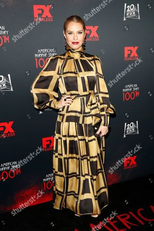 Leslie Grossman arrives for FX's American Horror Story 100th Episode Celebration at Hollywood Forever Cemetery in Hollywood, Los Angeles, California, USA, 26 October 2019. American Horror Story: 1984, the ninth installment of the award-winning anthology series, currently airs on FX in the US.