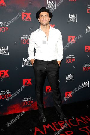 Cheyenne Jackson arrives for FX's American Horror Story 100th Episode Celebration at Hollywood Forever Cemetery in Hollywood, Los Angeles, California, USA, 26 October 2019. American Horror Story: 1984, the ninth installment of the award-winning anthology series, currently airs on FX in the US.