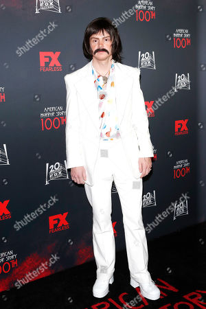 Evan Peters arrives for FX's American Horror Story 100th Episode Celebration at Hollywood Forever Cemetery in Hollywood, Los Angeles, California, USA, 26 October 2019. American Horror Story: 1984, the ninth installment of the award-winning anthology series, currently airs on FX in the US.