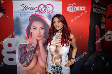 Porn actress Tera Patrick attends Exxxotica Expo 2019 at the New Jersey Convention & Exposition Center, in Edison, N.J
