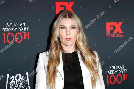 Stock Image of USA actress and cast member Lily Rabe arrives for FX's American Horror Story 100th Episode Celebration at Hollywood Forever Cemetery in Hollywood, Los Angeles, California, USA on 26 October, 2019. American Horror Story: 1984, the ninth installment of the award-winning anthology series, will air on Wednesday.