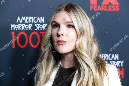 Stock Photo of USA actress and cast member Lily Rabe arrives for FX's American Horror Story 100th Episode Celebration at Hollywood Forever Cemetery in Hollywood, Los Angeles, California, USA on 26 October, 2019. American Horror Story: 1984, the ninth installment of the award-winning anthology series, will air on Wednesday.