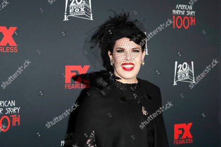 Alexis Martin Woodall arrives for FX's American Horror Story 100th Episode Celebration at Hollywood Forever Cemetery in Hollywood, Los Angeles, California, USA on 26 October, 2019. American Horror Story: 1984, the ninth installment of the award-winning anthology series, will air on Wednesday.