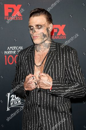 Gus Kenworthy arrives for FX's American Horror Story 100th Episode Celebration at Hollywood Forever Cemetery in Hollywood, Los Angeles, California, USA on 26 October, 2019. American Horror Story: 1984, the ninth installment of the award-winning anthology series, will air on Wednesday.