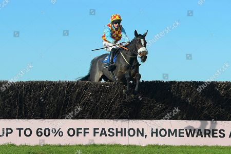 Kilcara ridden by Rex Dingle and trained by Jeremy Scott clear the last in The E.R. Garrett Cleaning Services Yeovil NoviceÕs Handicap Chase during Horse Racing at Wincanton Racecourse on 27th October 2019