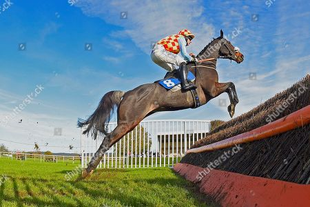 Kilcara ridden by Rex Dingle and trained  by Jeremy Scott jump the last in The E.R. Garrett Cleaning Services Yeovil NoviceÕs Handicap Chase during Horse Racing at Wincanton Racecourse on 27th October 2019