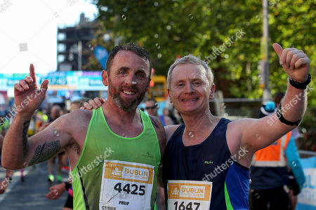Philip Gammell and Seamus Murphy after finishing the race