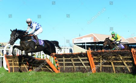 Wexford CADDY SHACK & John Berry jump the last to win the Casey Concrete Gorey Handicap Hurdle