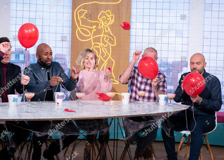 DJ Spoony and Fearne Cotton with Tim Lovejoy and Simon Rimmer