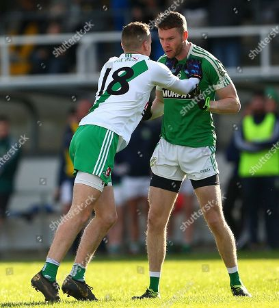 Moorefield vs Sarsfields. Deccy McKenna of Sarsfields with James Murray of Moorefield