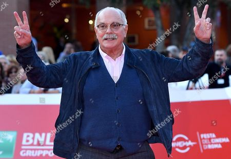 Nikita Mikhalkov arrives for the screening of 'Il peccato' at the 14th annual Rome Film Festival, in Rome, Italy, 27 October 2019. The film festival runs from 17 to 27 October.