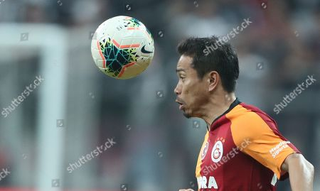 Galatasaray's Yuto Nagatomo in action during the Turkish Super League soccer match between Besiktas and Galatasaray in Istanbul, Turkey, 27 October 2019.