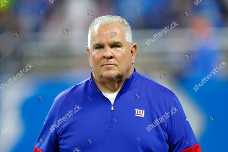 Stock Image of New York Giants' Mike Murphy watches during an NFL football game against the Detroit Lions in Detroit