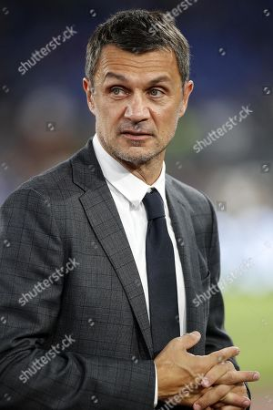 Milan's manager Paolo Maldini during the Serie A soccer match between AS Roma and AC Milan at the Olimpico stadium in Rome, Italy, 27 October 2019.