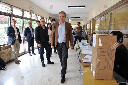 Former Spanish Prime Minister Jose Luis Rodriguez Zapatero walks through a polling station in Buenos Aires, Argentina, 27 October 2019. Rodriguez Zapatero was invited to observe the election day at the invitation of the Frente de Todos, a coalition to which the Alberto Fernandez - Cristina Fernandez de Kirchner belongs. About 33.8 million Argentines go to the polls to elect president and vice president for a four-year term and to partially renew Parliament.