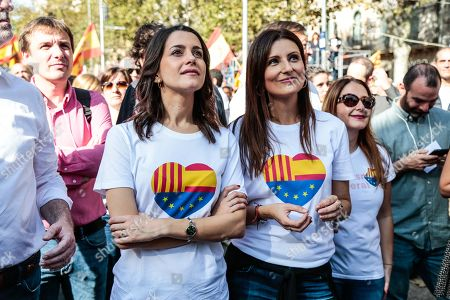 Editorial photo of Spanish Unionist Protest, Barcelona, Spain - 27 Oct 2019